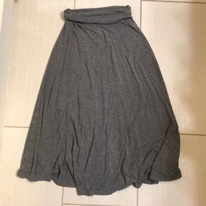 Gray GAP Maxi Skirt